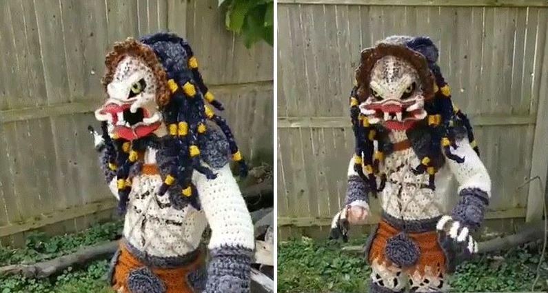 Predator fatto a maglia