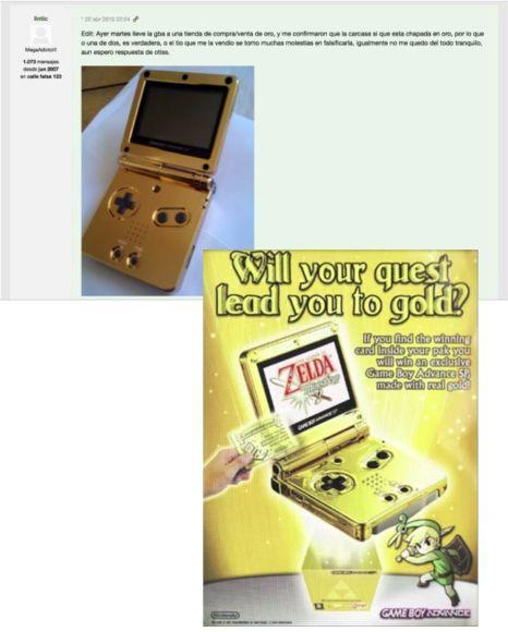 Game Boy Advanced dorato