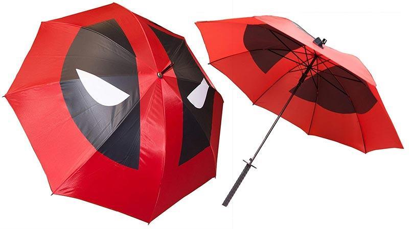 ombrello deadpool gadget nerd contro la pioggia