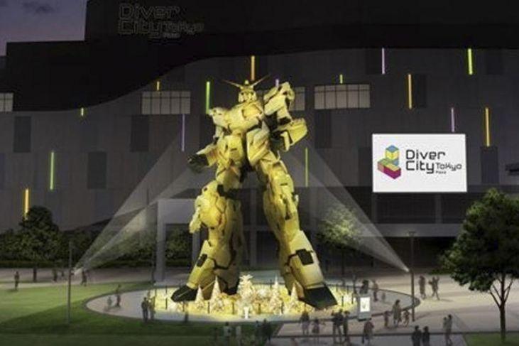Gundam Unicorn di Odaiba