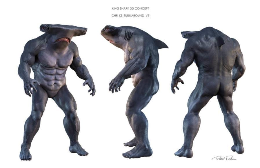 king shark suicide squad concept art