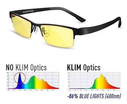 Occhiali da gaming anti affaticamento degli occhi, anti UV e anti luce blu