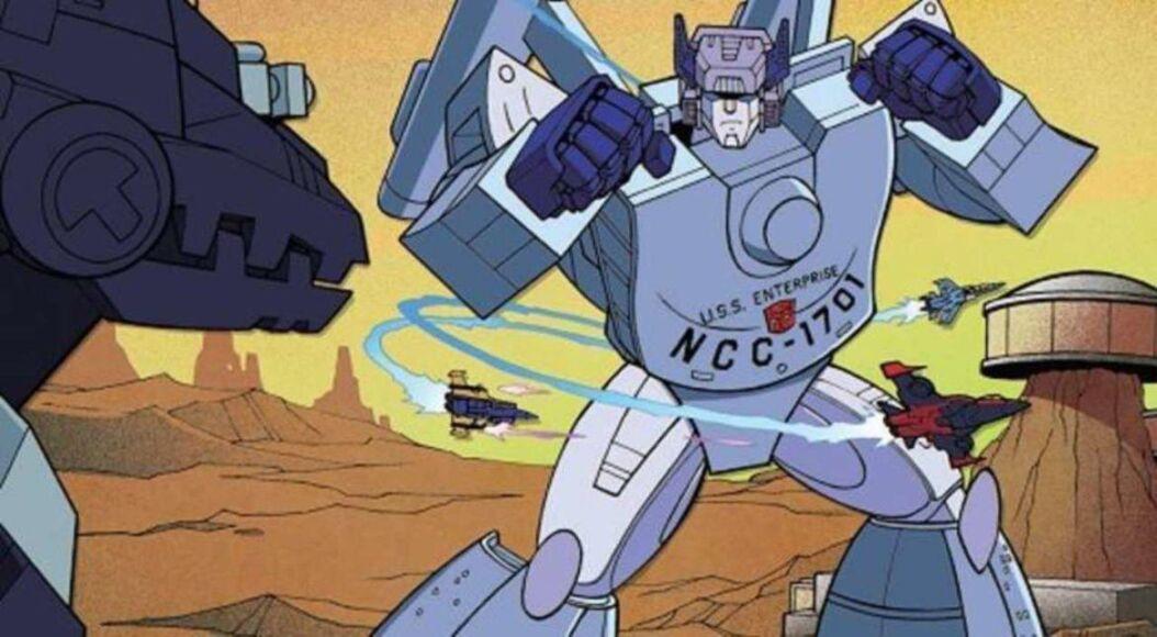 star trek vs transformers cover