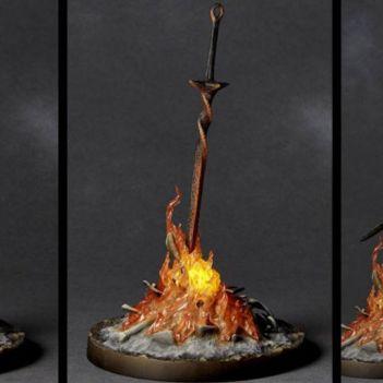 statua di Dark Souls falò