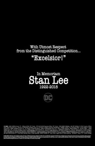 tributo di dc comics per stan lee