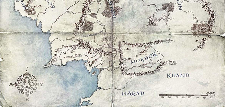 mappa terra di mezzo il signore degli anellli