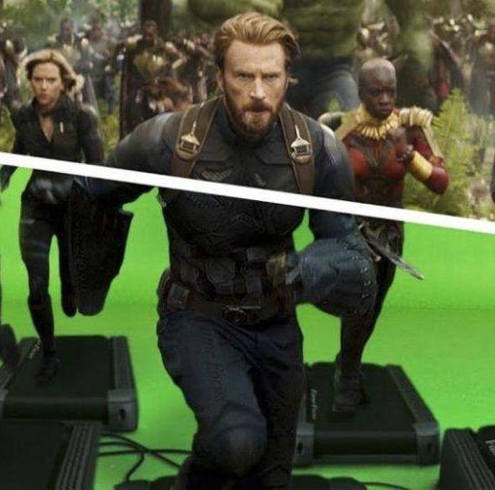 film marvel Infinity War senza effetti speciali