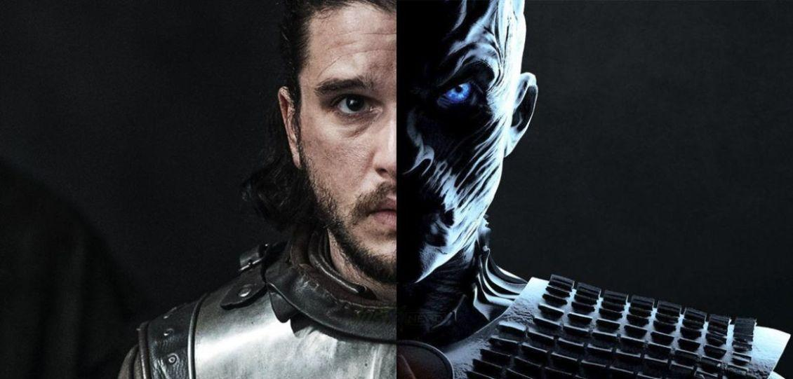 game of thrones 8 jon snow re della notte