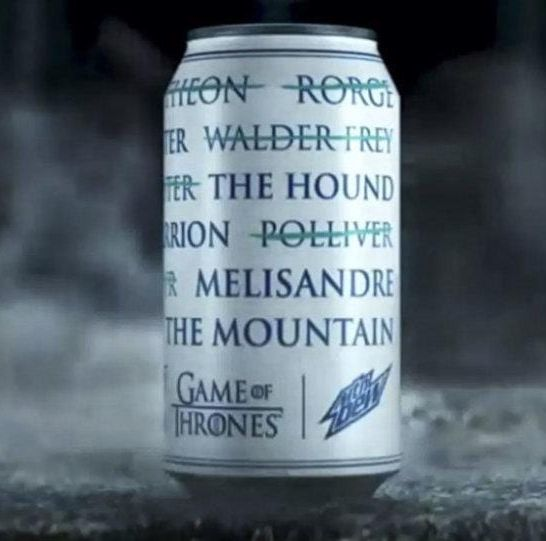 mountain dew game of thrones