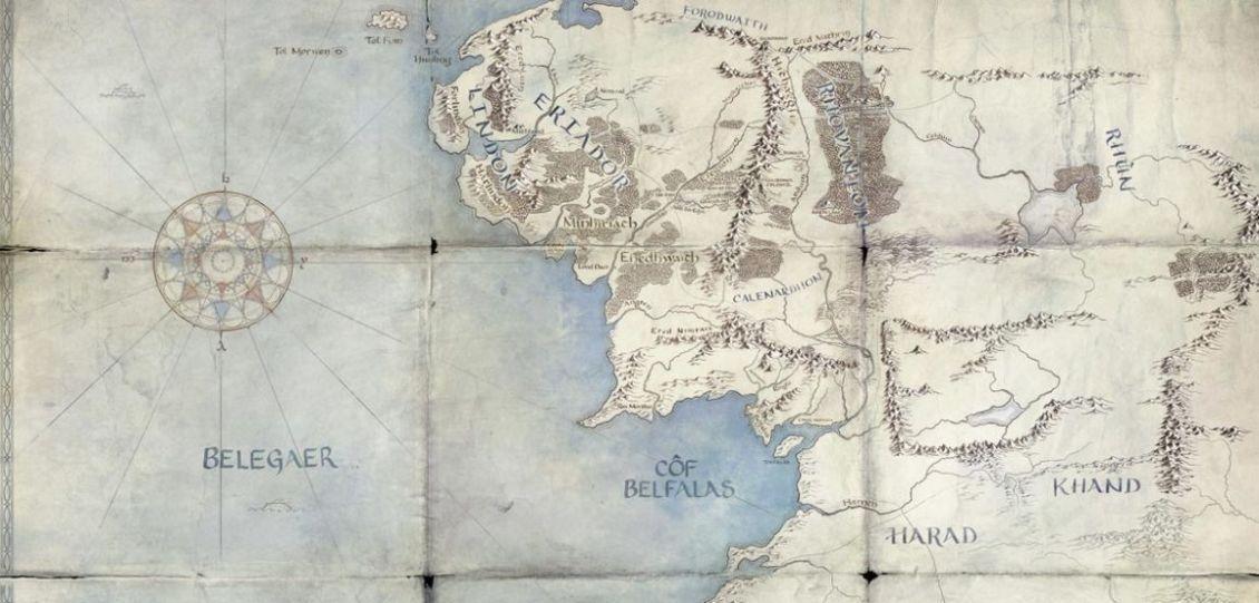 il signore degli anelli mappa terra di mezzo