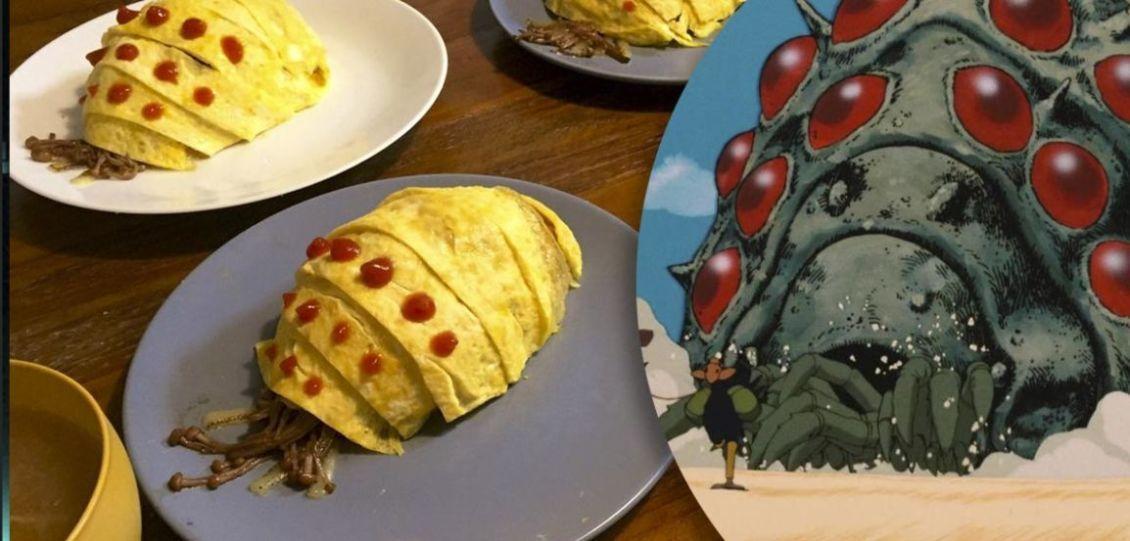 omelette mostri tarlo nausicaa della valle del vento