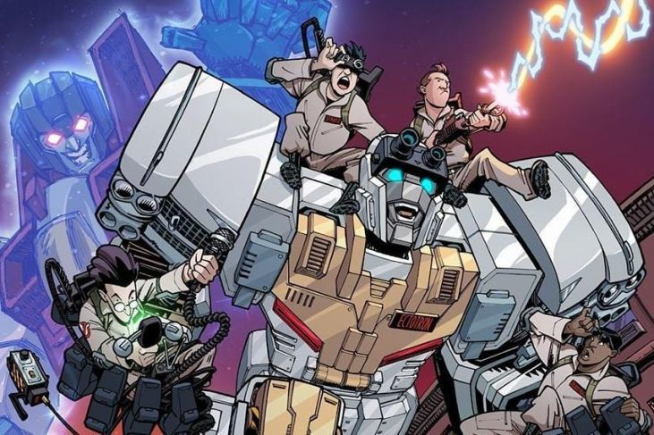 transformers ghostbusters cover