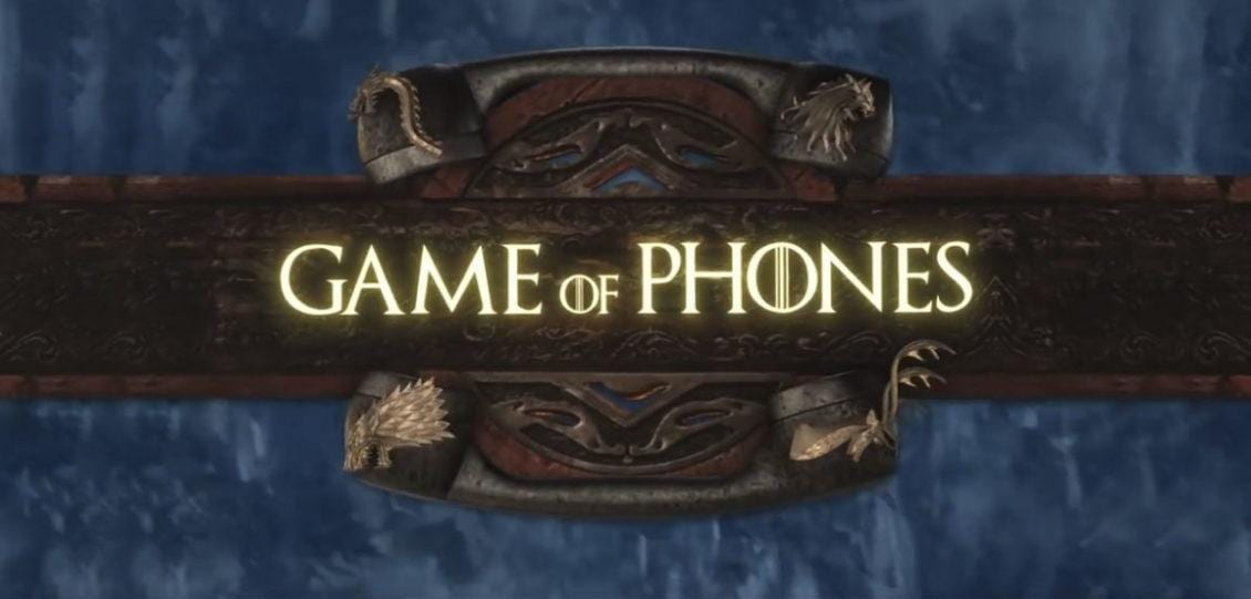 game of phones parodia il trono di spade