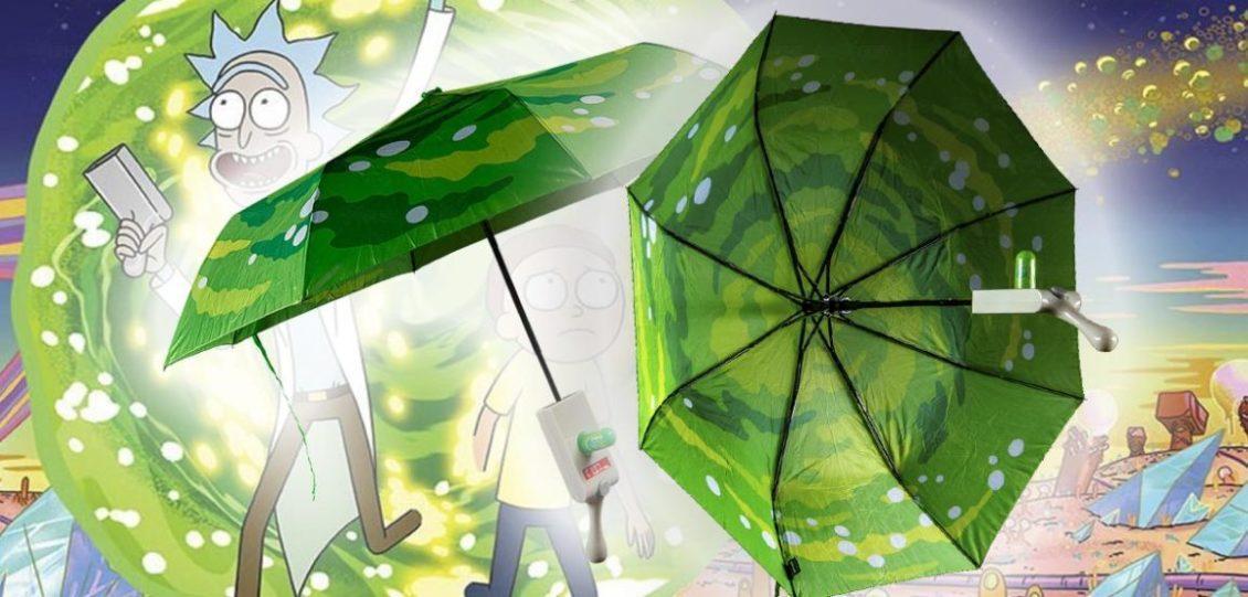 ombrello spara portali di Rick