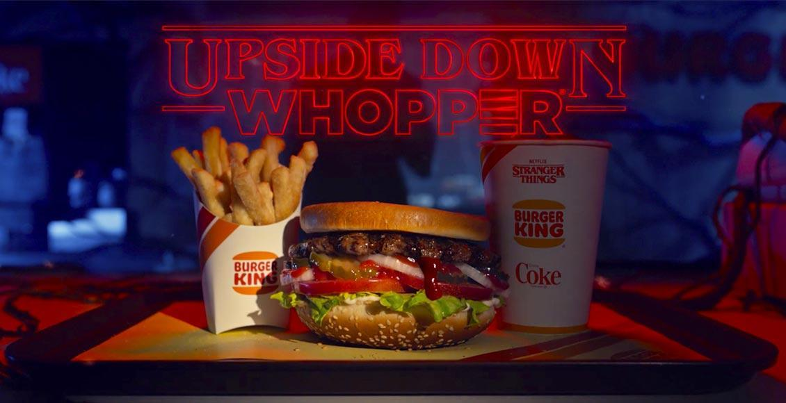 Upside Down Whopper hamburger Sottosopra di Stranger Things