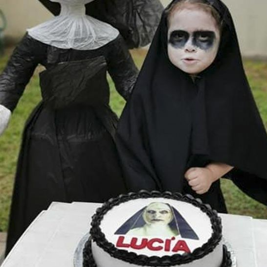 compleanno a tema horror the nun