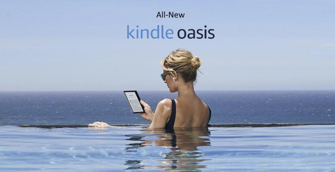 85307da4bef6b0 Kindle Oasis: leggere al mare o in piscina ora è più comodo e sicuro ...