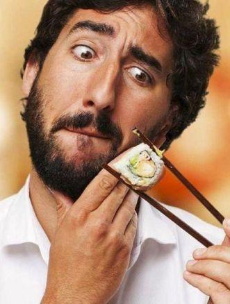 mangiare sushi