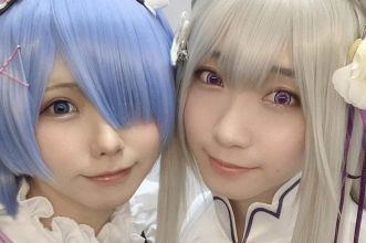 Re Zero cosplayer rem emilia