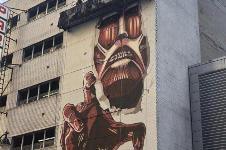 attacco dei giganti murales new york