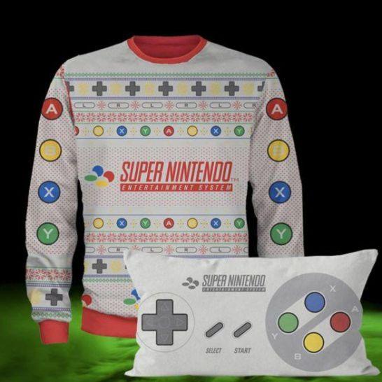 maglione natalizio super nintendo