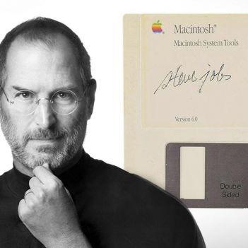 Steve Jobs floppy disk