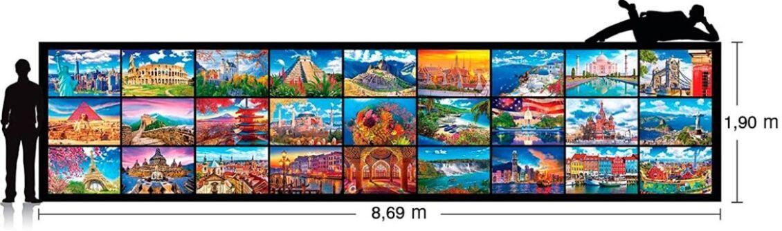 misure puzzle più grande del mondo kodak