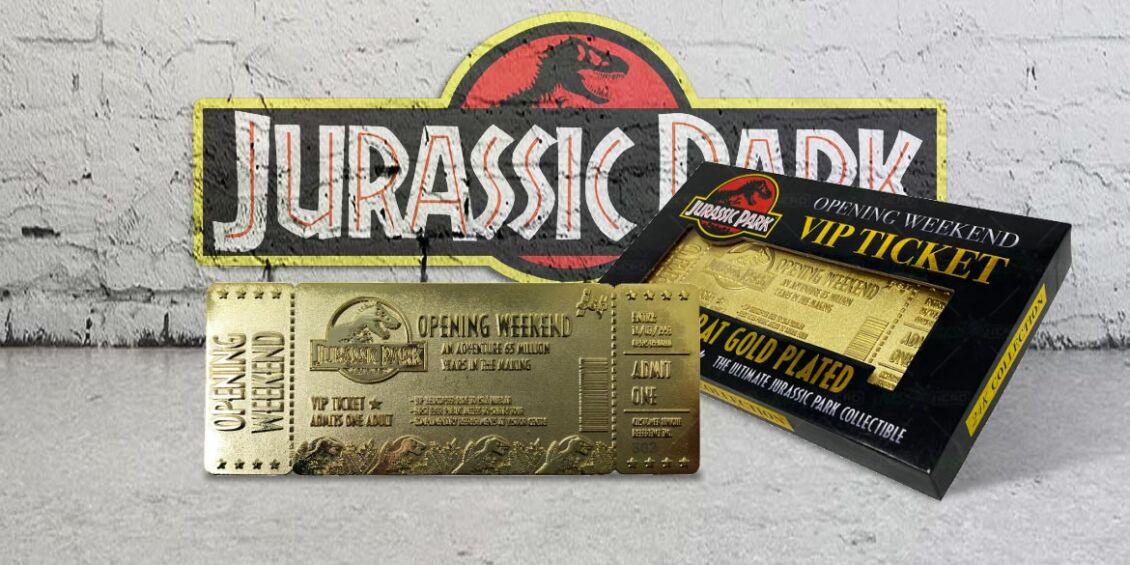 biglietto jurassic park oro