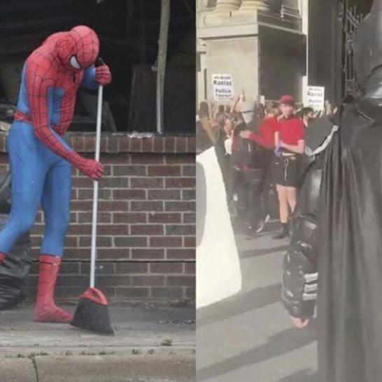 Batman Spider-Man Black Lives Matter