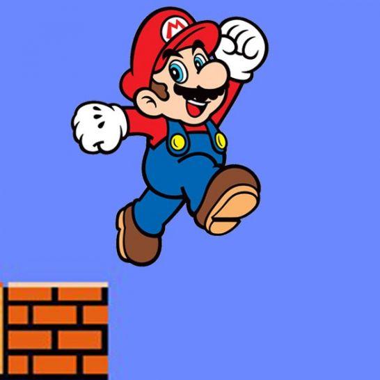 salto in aria Super Mario