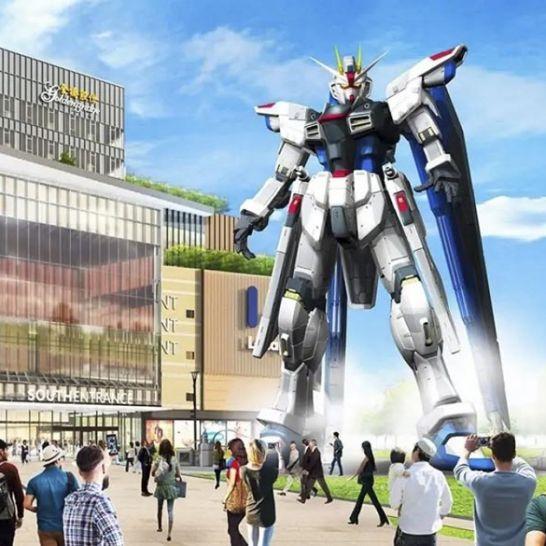 freedom gundam statua shangai