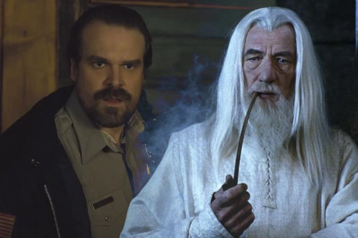 jim hopper come gandalf in stranger things 4