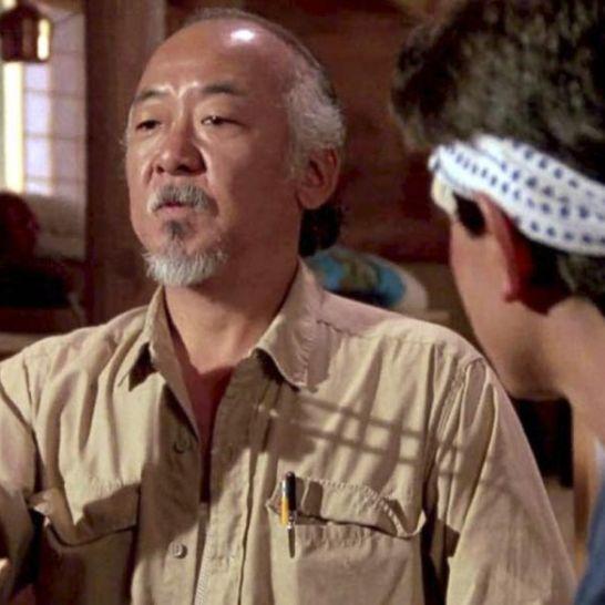 pat morita ralph macchio in Karate Kid
