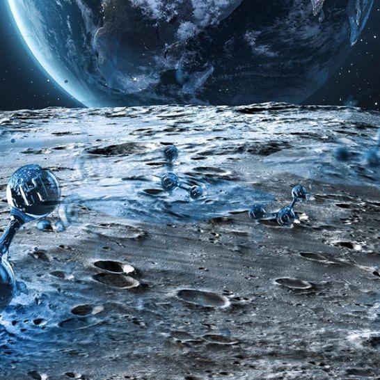 acqua sulla luna vicino siti Artemis