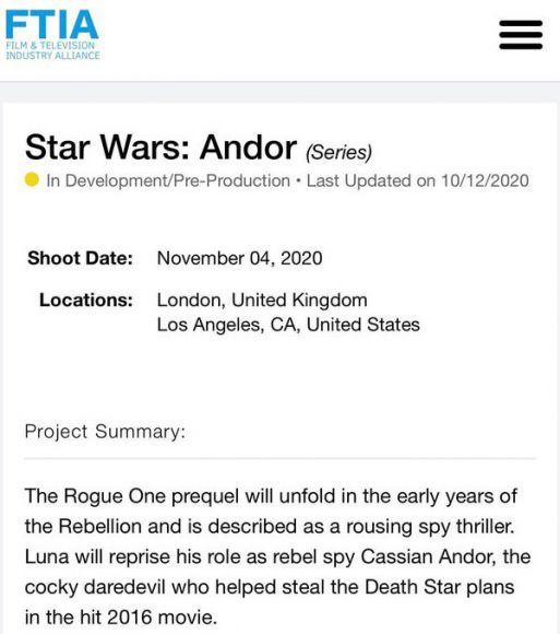scheda star wars andor