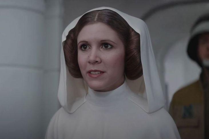 Leia Deepfake Rogue One
