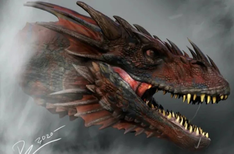 game of thrones house of the dragon concept art drago 2