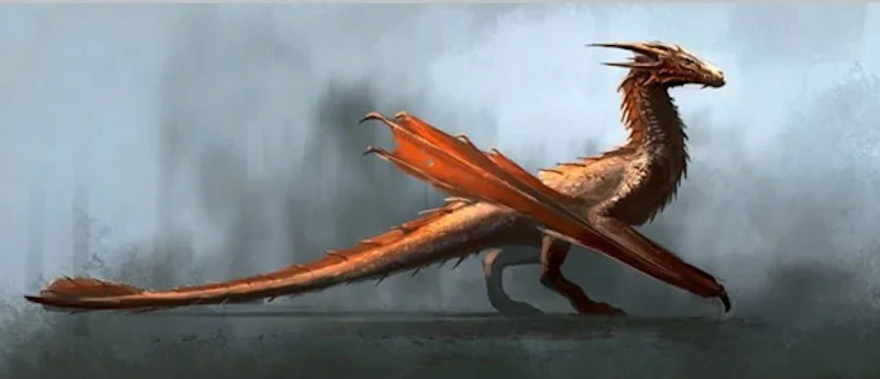 game of thrones house of the dragon concept art drago