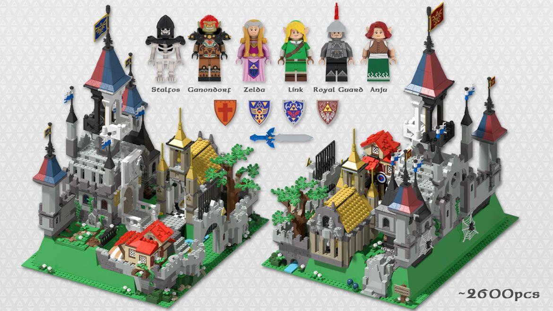 lego ideas legend zelda castle hyrule