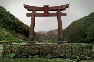 uragano tsushima cancello distrutto