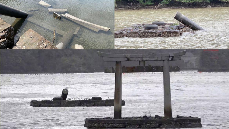 uragano tsushima cancello distrutto dettagli
