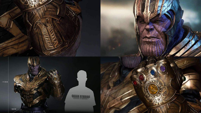 Thanos statua mezzo busto dettagli