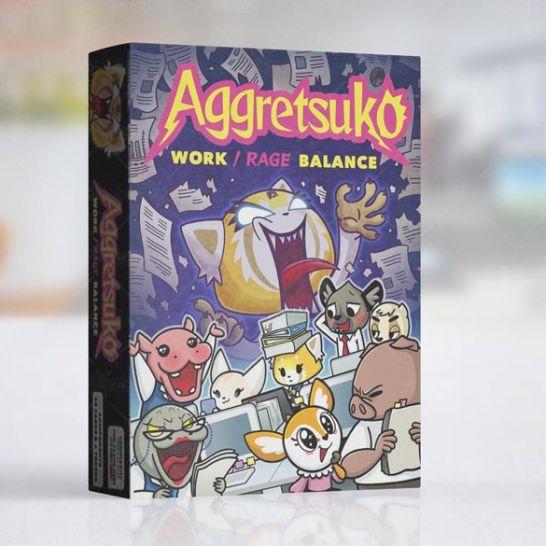 Aggretsuko gioco di carte renegade Game Studios