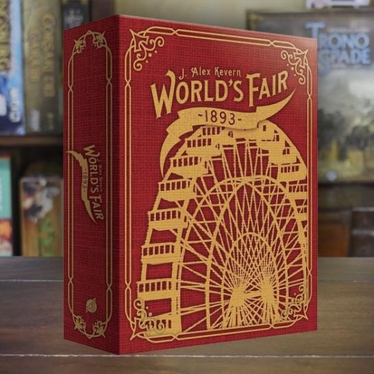 Worlds fair 1893 gioco da tavolo boardgame scatola rossa