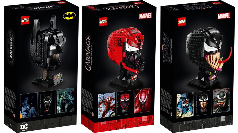 LEGO batman carnage venom caschi