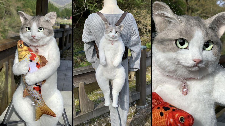zaino realistico gatto