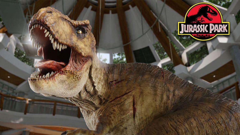 jurassic park t rex statua