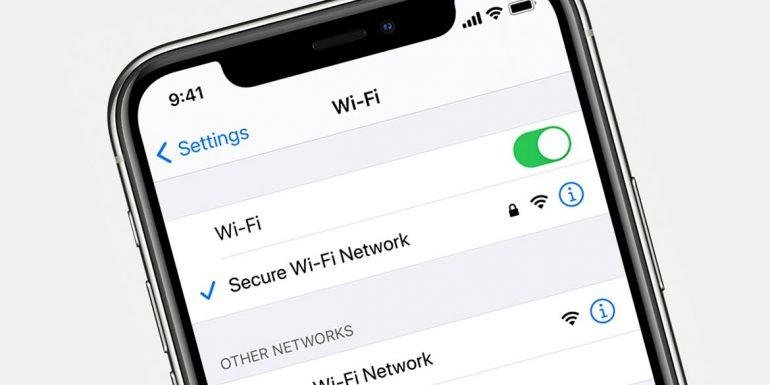 iphone wi fi settings rete