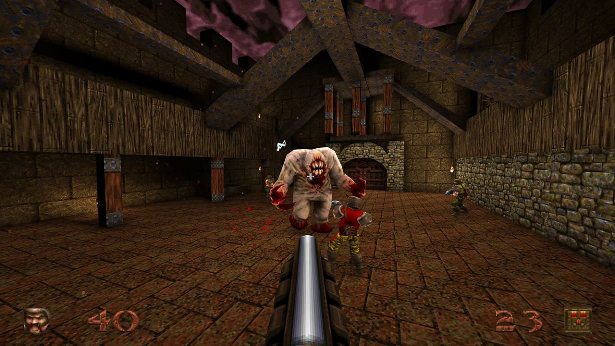quake remastered in game