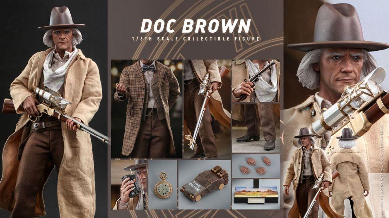 doc brown hot toys ritorno futuro 3